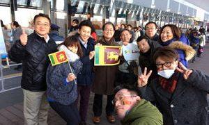 冬季アジア札幌大会開会式 スリランカ選手団を激励